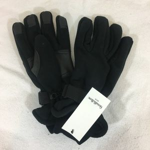 Goodfellow & Co Accessories - Goodfellow Black Pig Leather and Polyester Gloves